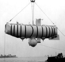 De bathyscaaf 'Trieste' van Auguste Piccard